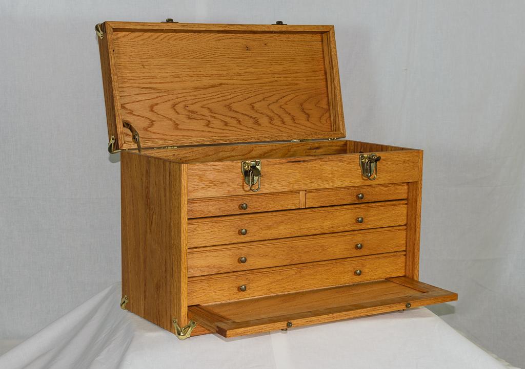 Steve s woodworking oak tool chest